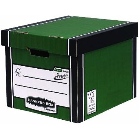 Fellowes R-Kive Premium Presto - Caja de archivo grande (10 unidades), color verde