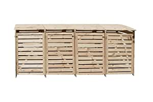 m lltonnenbox f r 4 tonnen in holz natur garten. Black Bedroom Furniture Sets. Home Design Ideas
