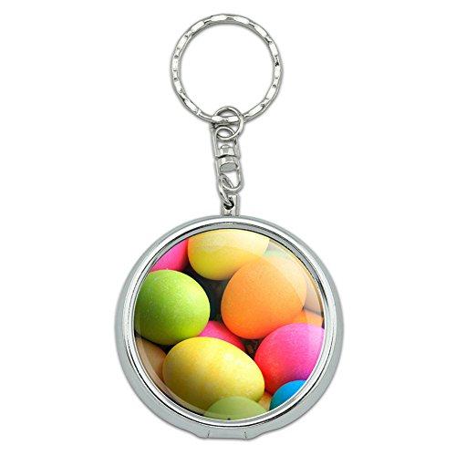 Portable Travel Größe Pocket Geldbörse Aschenbecher Schlüsselanhänger Urlaub Weihnachten Halloween Colored Easter Eggs (Halloween Geldbörsen)