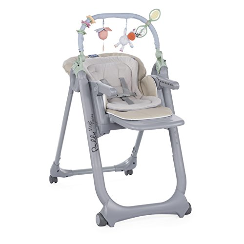 Chicco  Polly Magic Relax Seggiolone con 4 Ruote, Beige