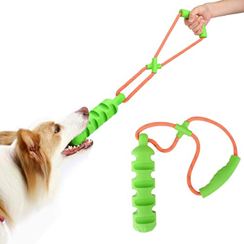 Pawaboo Hundespielzeug zum Zerziehen, Hunde Kauspielzeug mit Handgriff Pfeife Interaktives Ziehspielzeug aus - Hundespielzeug Zum Ziehen