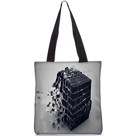 Snoogg Cubo De La Explosión De La Bolsa De Asas 13,5 X 15 En