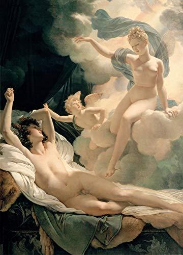 Preisvergleich Produktbild 1art1 120724 Pierre Narcisse Guérin - Morpheus Und Iris,  1811,  2-Teilig Fototapete Poster-Tapete 250 x 180 cm