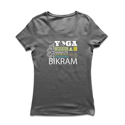 lepni.me Frauen T-Shirt Yoga Meditation Om Good Vibes Lotus Savasana Bikram (X-Large Graphit Mehrfarben) -