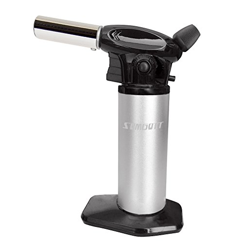 Bunsenbrenner SUMGOTT CremeBruleeBrenner - Professioneller Edelstahl Gasbrenner für Creme Brulee/BBQ (Butangas nicht enthalten)