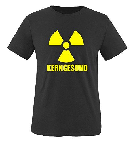 KERNGESUND/RADIOAKTIV. - Herren T-Shirt Schwarz Gr. L