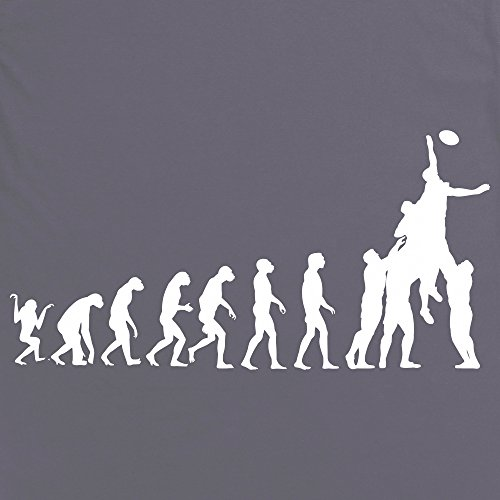 Rugby Evolution T-Shirt, Herren Anthrazit