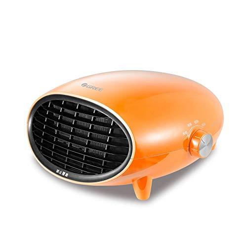 Warme Luft Leidenschaft Badheizer wasserdichter Heizwand montierte elektrische Erhitzer sichere Heizen und Kühlen mit doppelten Verwendungszweck Haushalt Erhitzer (Color : Orange)
