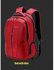vyset (TM) 2016Tigernu evitar robo impermeable negocios mochila laptop bolsa grande espacio camping senderismo mochila de viaje con cierre de cremallera, RED WHITE BLUE