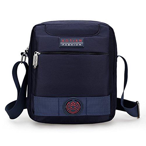 Outreo Borse a Spalla Viaggio Borsa Tracolla Uomo Borsetta Sport Sacchetto  Vintage Messenger Bag Borsello per 6168236d38d