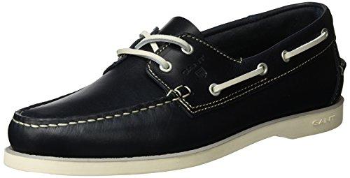 GANT FOOTWEAR Herren Prince Bootsschuhe, Blau (Marine), 42 EU (Schuhe Prince Herren)