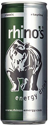 Rhino's Energy Drink Classic, 24er Pack, EINWEG (24 x 250 ml)
