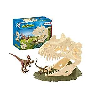 Schleich 42348 Dinosaurs Spielset – Große Schädelfalle mit Velociraptor, Spielzeug ab 5 Jahren
