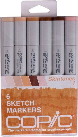 Copic Marker Copic Sketch – Rotulador marcador de tonos de piel 1 (Pack de 6)