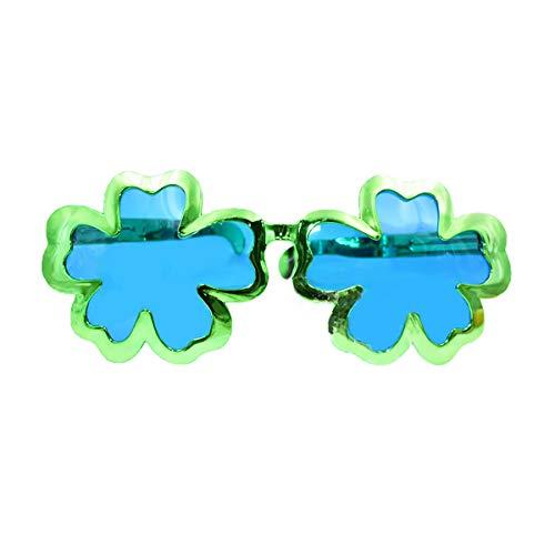 Weiye Kunststoffbrille für St. Patrick's Day Kostüm, Party-Accessoire, 1 Stück Four-Leaf Clover (Four Leaf Clover Kostüm)