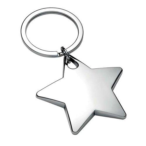 Brillant Chrome étoile porte-clés