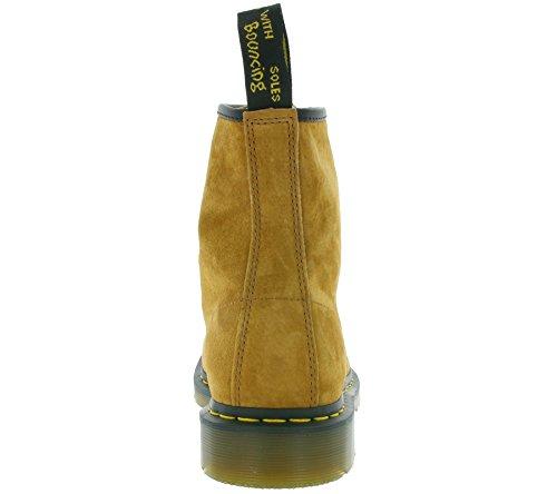 Dr. Martens 1460 Soft Buck, Scarpe Stringate Basse Brogue Unisex-Adulto Tan