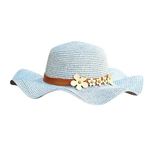 Sonnenhut strandhut, Frauen Strand Strohhut Jazz Sonnenschirm Panama Trilby Fedora Hut Gangster Hut