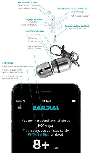 EarDial Ohrstöpsel - Unsichtbare Smarte Ohrstöpsel für Live Musik - Komfortabler, Diskreter, Wiederverwendbarer Hi-Fi Gehörschutz mit App. Ideal für Konzerte, Clubs, Festivals, Musiker, DJs, usw. - Bild 7