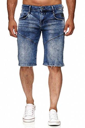 Rusty Neal Kurze Herrenjeans Hose Jeans Denim Blau Bermuda Shorts  A1-RN-13612 2088018dea64