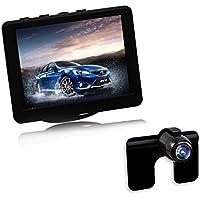 AUTO-VOX 8,89 cm monitor LCD posteriore a 2,4 G wireless impermeabile Colore Targa telecamera per la retromarcia con 170 gradi di angolo di larghezza