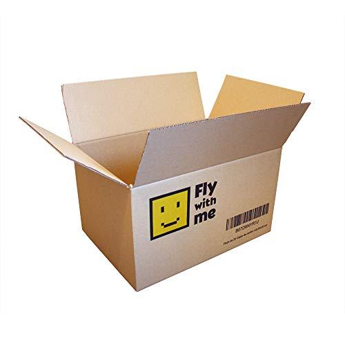 12 Cajas de Cartón Marrón/Canal Simple de Alta Calidad Reforzado/Dimensiones 43 x 30 x 25 cm