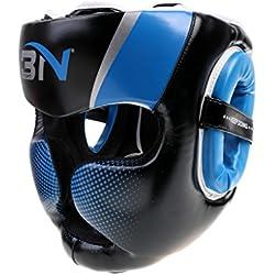 MagiDeal Casco de Desmontable MMA Protector de Cabeza Accesorio de Boxeo Artes Marciales de Ajustable - Azul
