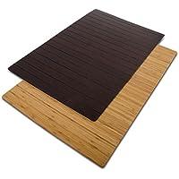 casa pura® Bambusmatte Emma | Testsieger Note 1,2 | Badematte & Saunamatte aus Bambus | 60x90cm | zwei Farben (Natur)