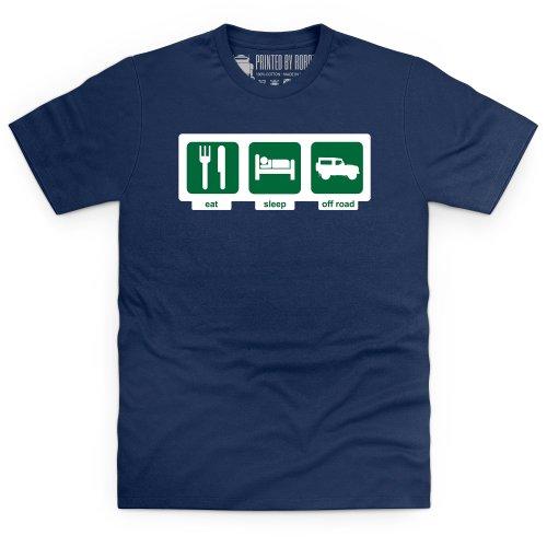 Eat Sleep Off-Road T-Shirt, Herren Dunkelblau