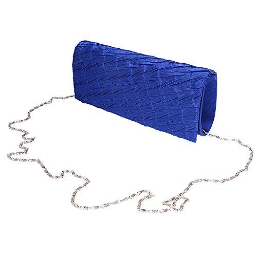 Gazechimp damen Abend Umschlag Clutch Tasche Geldbörse Kette Schultertasche - Blau Blau