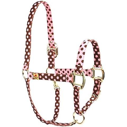 Rojo Haute caballo PJ mascota productos lunares diseño alta moda Premier calidad cabeza de caballo collar, pequeño, rosa/marrón