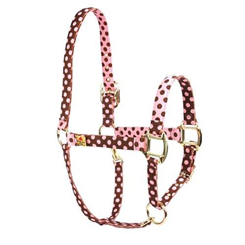 Rosso Haute Cavallo PJ Pet Products moda, polka, design di alta qualità Premier cavezza, piccola, colore: rosa/marrone