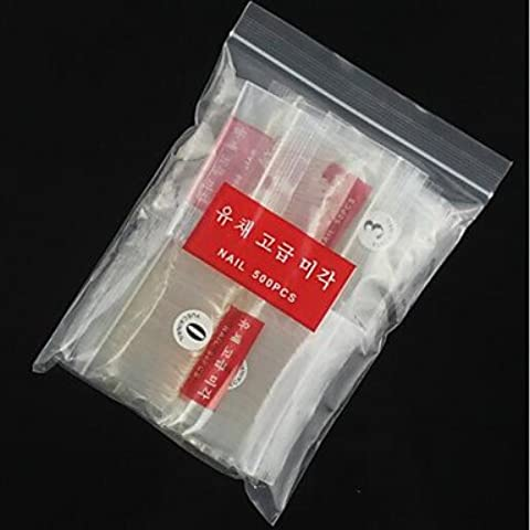 alallti Hot vendita di 500pezzi ransparent semi trasparente semi Manicure
