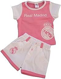 Real Madrid FC Baby M/ädchen Plissee Kleid Wei/ß Schwarz 0-24 Monate