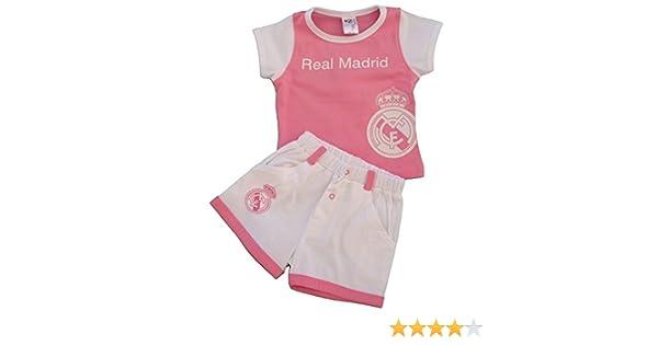 0-24 Monate Sweatanzug Pink Wei/ß Real Madrid FC Baby M/ädchen