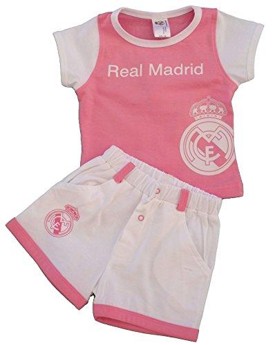 4c23b70cb0663 Conjunto para Niñas Real Madrid Camiseta Pantalón Rosa Blanco (6 Meses)