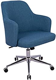 AmazonBasics Classic Adjustable Office Desk Chair - Twill Fabric, Navy, BIFMA Certified