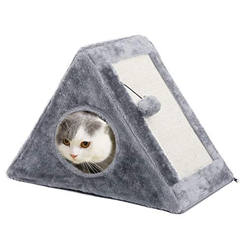 Ohana tiragraffi per gatti a forma di triangolo, tenda con tiragraffi pieghevole