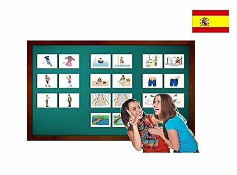 Bildkarten zur Sprachförderung in Spanisch - Adjektive - Tarjetas de vocabulario - Adjetivo 2 - Einfach Spanisch lernen