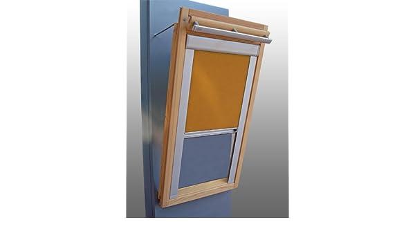 Occultation store à enrouleur Alu Thermo pour velux fenêtre de toit GGL//GPL//suivant-Jaune