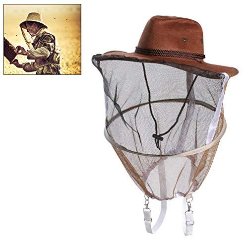 Phayee Schleier Volles Gesicht Bienenzucht Cowboy-Bienenhut Bienennetz-Schleier-Hals-Abdeckungs-Masken-Kopf-Schutzkappe -