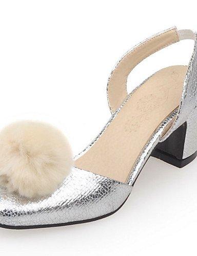 LFNLYX Chaussures Femme-Soirée & Evénement / Habillé / Décontracté-Argent / Or-Gros Talon-Talons / Bout Arrondi / Bout Fermé / A Bride Arrière- golden