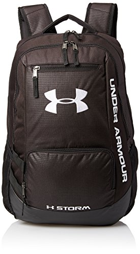Under Armour Men's Hustle Backpack – Noir (Black/Steel/White), One Size