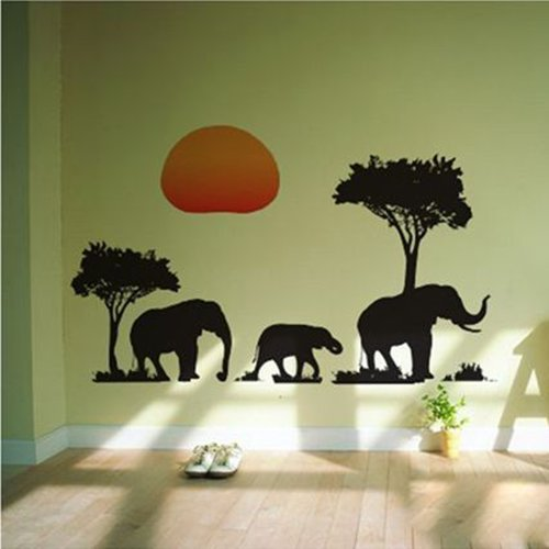 home tree product animal art painting scenery quality wall store handmade african landscape sun shipping canvas high office large oil decoration desc people decor free