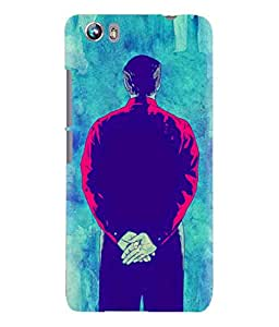 Micromax Canvas Fire 4 Detective Graphic Designed Printed Back Cover Hybrid Strong Polycarbonate Hard Case Cover With Premium Quality and Matte Finish by Print Vale
