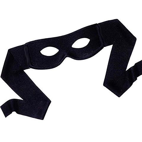 Airline Pilot Costume De Déguisement - German Trendseller® masque de zorro┃noir┃bandit┃masque en tissue┃à