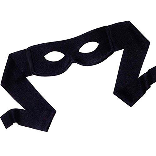 orro Maske Schwarz Zum Binden┃ Stoff Maske ┃ Bandit ┃ Karneval / Fasching (Kinder Catwoman Kostüm)