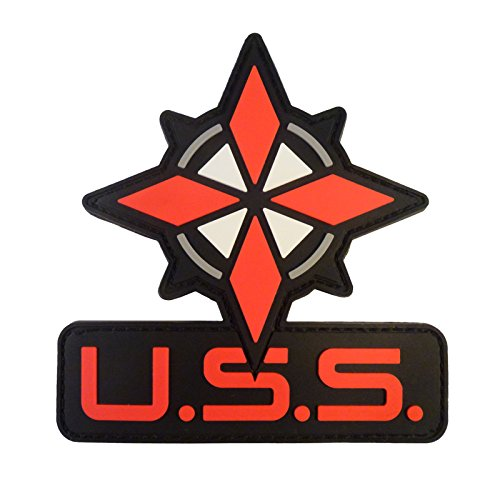 2AFTER1 Resident Evil OP Raccoon City USS Logo Umbrella Security PVC Rubber 3D Hook&Loop Patch