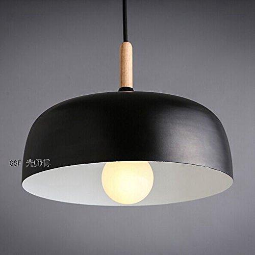 Americana Nordic legno loft Lampadario Sala da pranzo lampadario lampada corridoio tavolo ufficio , black