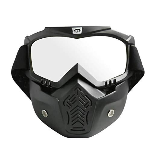 DOLOVE Motorradbrille für Brillenträger Brille Winddicht Radsport Outdoor Schutzbrille Beschlagfrei Schwarz Weiß